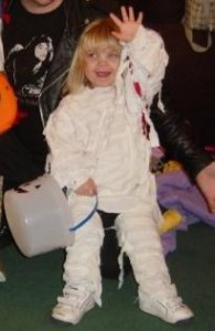 Homemade mummy costume